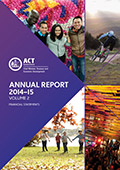 CMTEDD Annual Report 2014-15 Cover Artwork